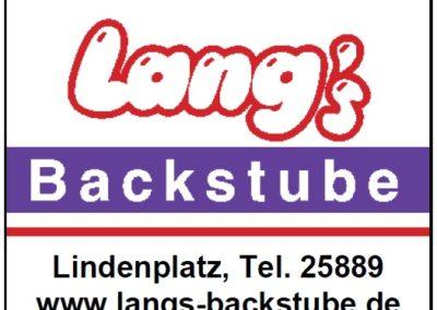 Lang's Backstube